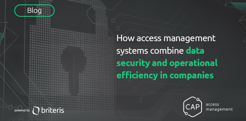 How do access management systems combine data security and efficiency in the company's operations?